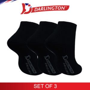 darlington kids casual anklet socks 780934 black set of 3